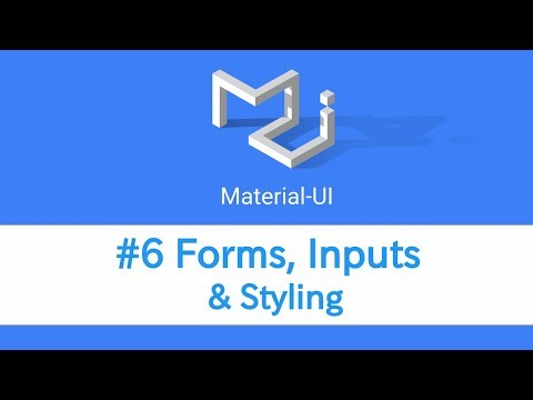 Learn React Material Ui 6 Forms Inputs Styling Youtube