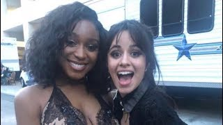 camila cabello and normani bbmas red carpet