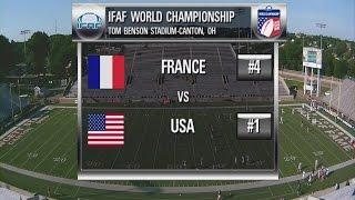 United States 82 France 0 - IFAF World Championship 7-15-2015