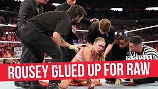 Ronda Rousey Says She Will Glue Herself Up & Be At RAW, Shares Photo Of Battle Scars