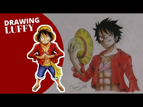 speed-drawing-luffy---(-one-piece-)- pencil-drawing 