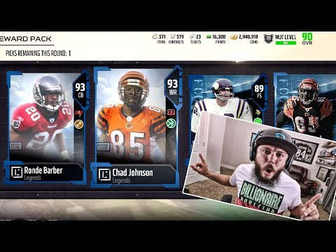 3 LEGENDS IN 1 PACK!! CHAD JOHNSON AND RONDE BARBER | MADDEN 18 PACK OPENING!!