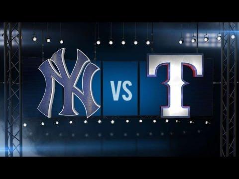 7/28/15: Yankees offense, bullpen dominate Rangers
