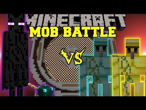 ENDER LORD VS. DIAMOND GOLEM AND GOLD GOLEM - Minecraft Mob Battles - Legendary Beasts Mod