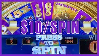 🎰🎡$10/Spin on Wheel of Fortune TRIPLE GOLD 🎡 ✦ Slot Machine Pokies w Brian Christopher