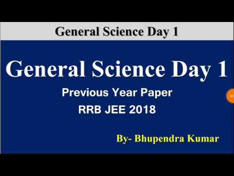RRB JE/NTPC/ALP/GROUP D previous year Science Questions