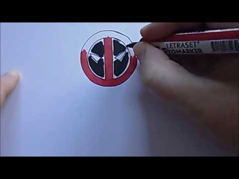 How To Draw Deadpool Logo Emblem