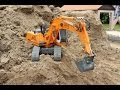 RC EXCAVATOR AND WHEEL LOADER TEAMWORK LOADING DUMP TRUCK