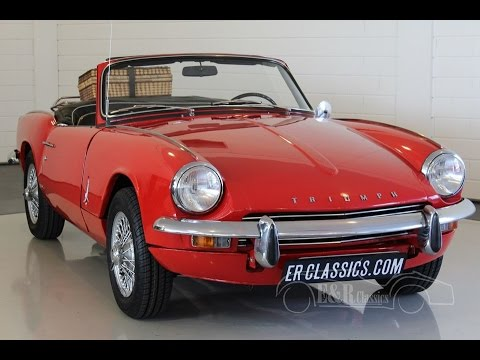triumph spitfire mk3 cabriolet 1970 wire wheels signal red video youtube. Black Bedroom Furniture Sets. Home Design Ideas