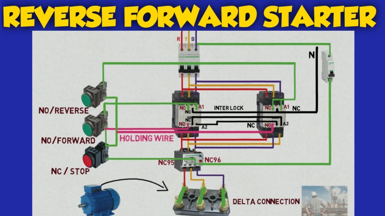 Reverse Forward Direct Online Starter Control Wiring
