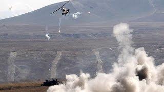 Bitlis / Buzlupınar'da Atak taarruz helikopterinin pkklıları imha etme anı!