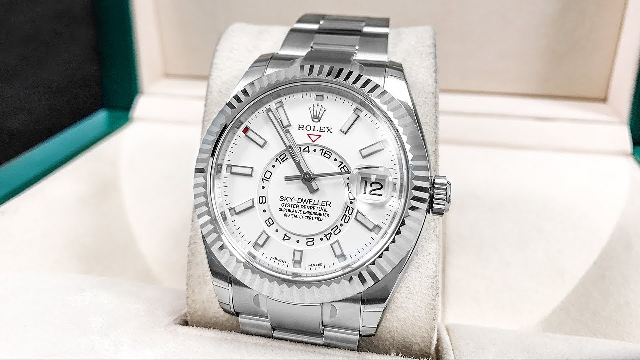 New rolex sky dweller in stainless steel better than gold youtube for Watches better than rolex