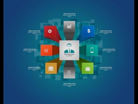 Photoshop Tutorial Graphic Design |  Infographic 3D Boxs