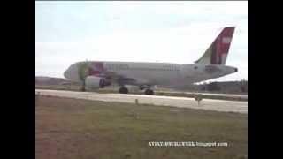 Lisbon Airport Taxiway and Takeoffs Aeroporto de Lisboa