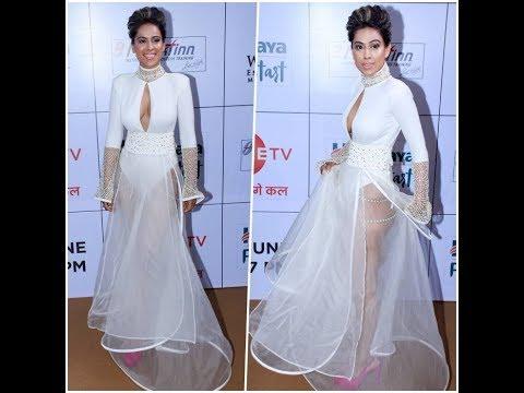 Nia Sharma Sexy Bra Less Dress Boobs Cleavage & Revealing Naked Dress video thumbnail