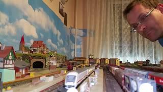 Spur N Modellbahn Testfahrt IC über den neu angefertigten Bahnhofs Abschnitt klappt
