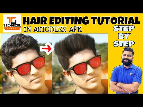 How To Change Hairstyle In Autodesk Sketchbook Hair Editing
