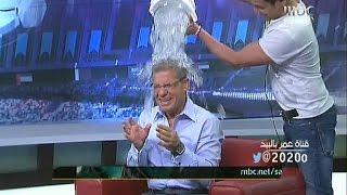 مصطفى الاغا [ لعبه تحدي الثلج ] على الهواء مباشره : صدى الملاعب