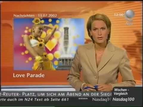 N24  13.07.2002  12.00h Nachrichten  Loveparade 2002