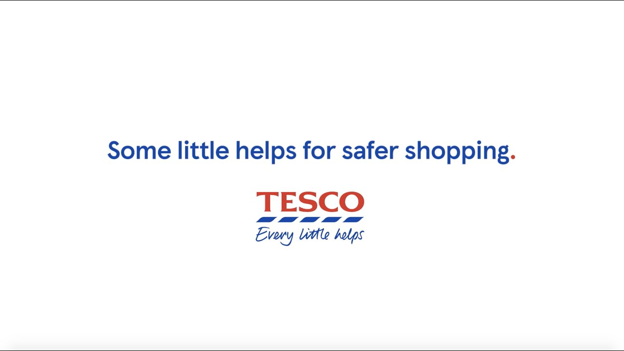 Tesco ad promotes in-store social distancing