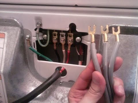 how to replace a dryer cord - youtube ac wiring dryer #12