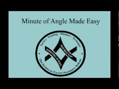 Minute Of Angle (MOA) Made Easy