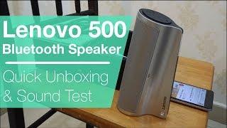 Lenovo 500 Bluetooth Speaker | Quick Unboxing & Sound Test