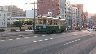 広島電鉄650形652号 本川町〜原爆ドーム前