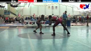 James Green vs. Tyler Scotten at 2013 ASICS University Nationals - FS