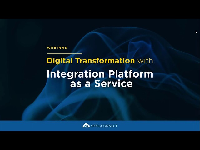Webinar: Digital Transformation with Integration Platform as a Service | APPSeCONNECT