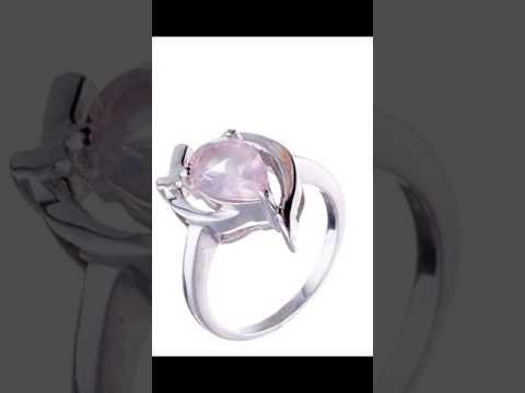 Розовый кварц ювелирные украшения