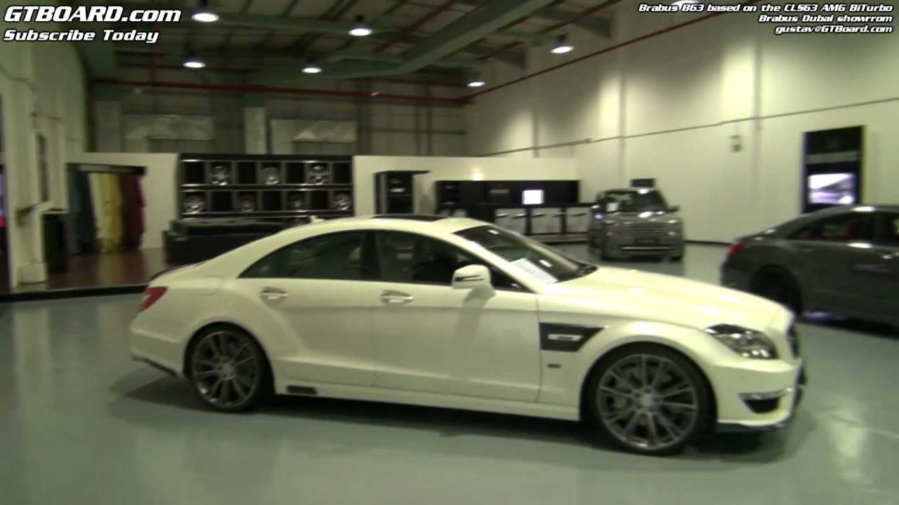 brabus dubai showroom: brabus b63 cls63 amg biturbo-based x 2 and