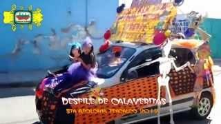 Santa Apolonia Teacalco Desfile de Calaveritas