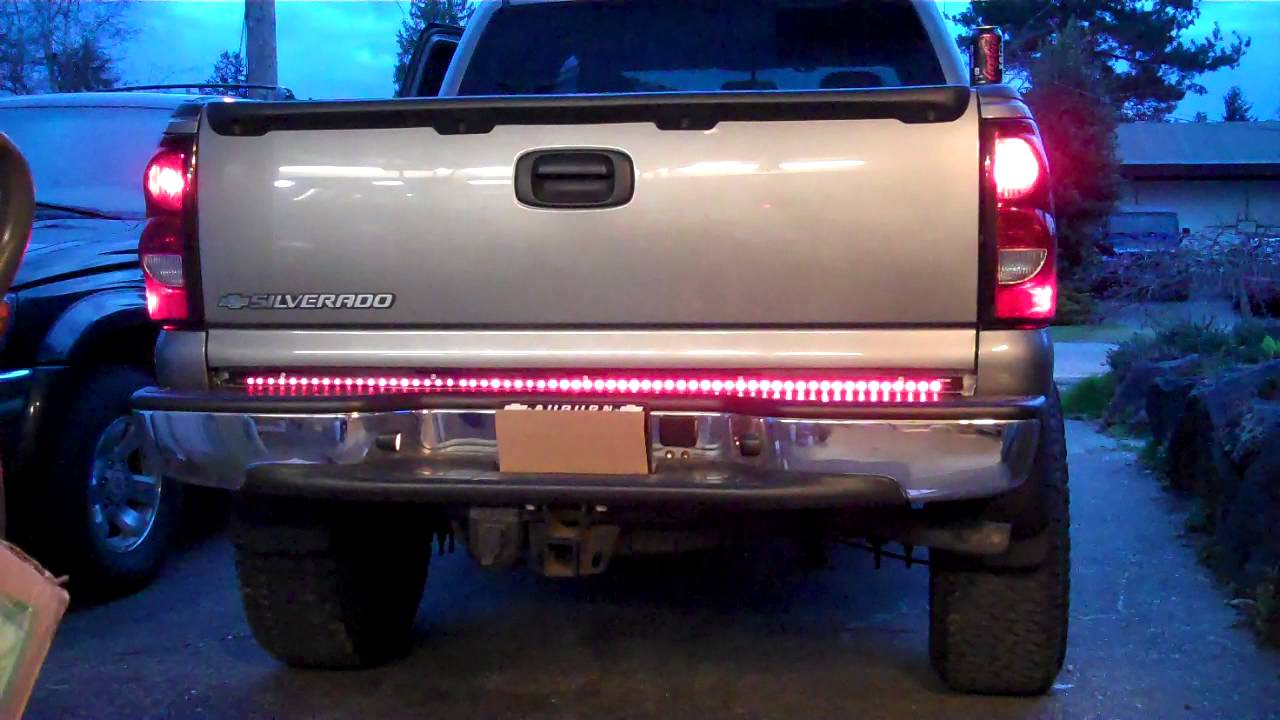 Recon line of fire led tail gate light bar youtube aloadofball Gallery
