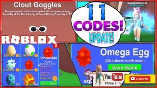 Roblox Mining Simulator ✨LEVELS! 11 CODES and New Updates, Omega Egg, Pets, Texture and Hats!