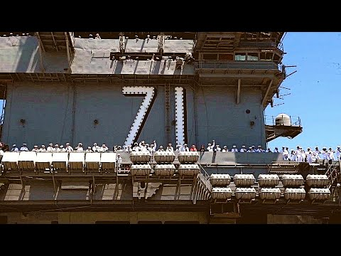 Navy HOMECOMING! Supercarrier USS THEODORE ROOSEVELT returns to San Diego after 7-month deployment!