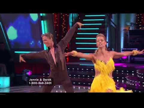 Jennie Garth and Derek Hough  Samba