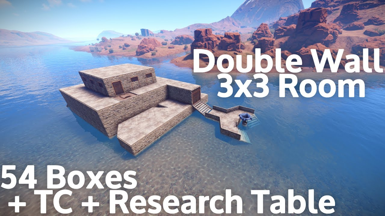Rust - 54 Large Chests in a 3x3