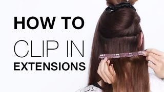 How to Clip In Hair Extensions | Estelle s Secret Hair Extension Tutorial | Buy Hair Extensions