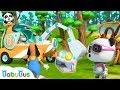 Super Panda Saves Surprise Eggs   Super Rescue Team   Panda Cartoon   Ice Cream, Hamburger   BabyBus