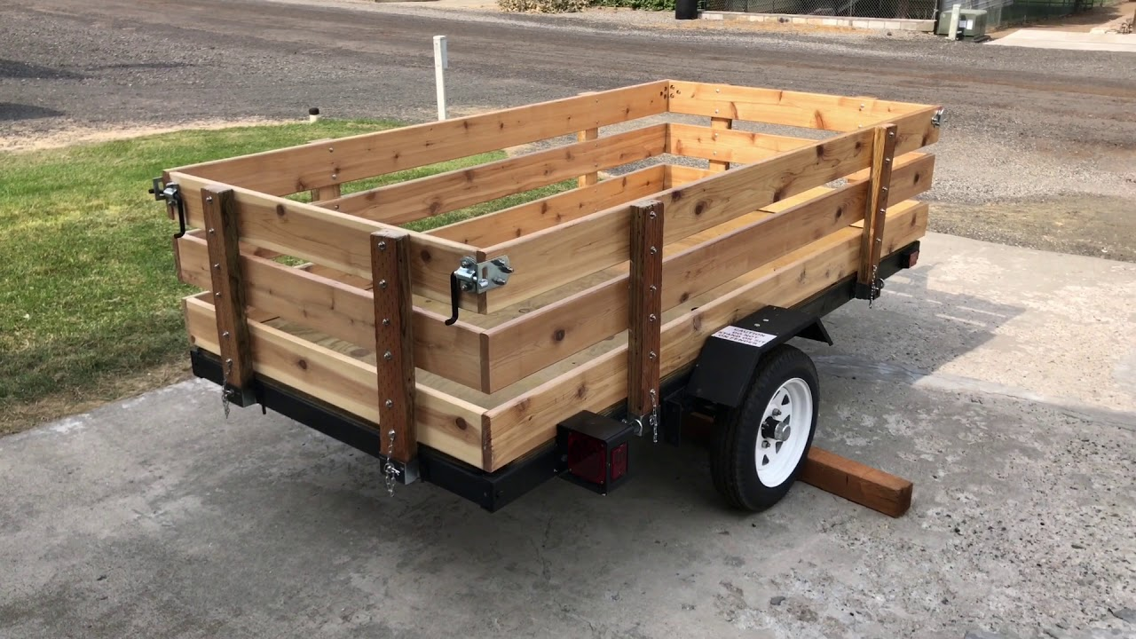 Harbor Freight Utility Trailer Build Diy Youtube