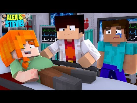 ALEX'S EVIL UNBORN BABY IS KILLING HER!! Minecraft LIFE Of ALEX & STEVE