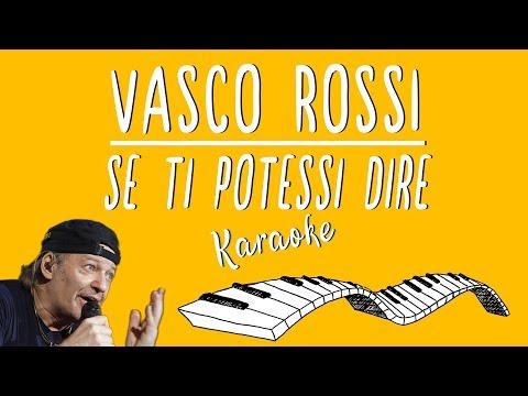 🎹 Vasco Rossi Se Ti Potessi Dire Karaoke🎤 Piano Instrumental