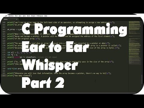 {BINAURAL ASMR} Ear to Ear Whisper About C Programming for Relaxation (Layered Typing Sounds) Pt. 2