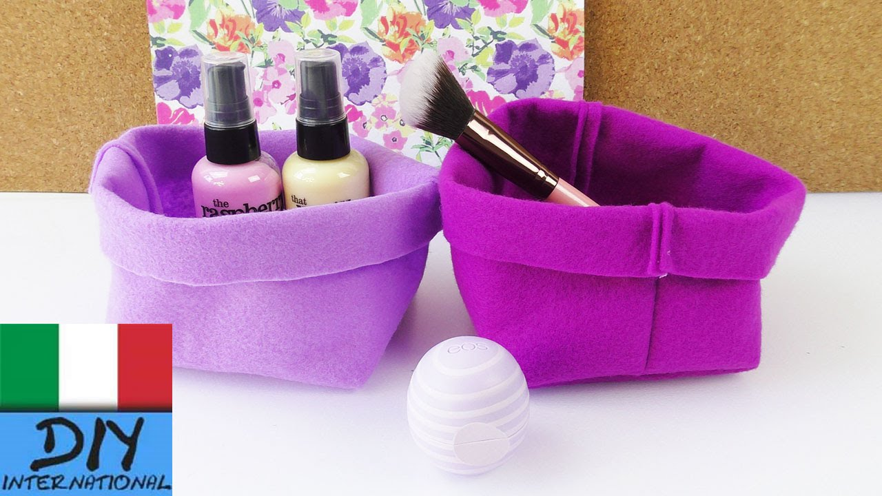 Diy contenitore di stoffa come cucire un piccolo cestino for Oggetti in regalo gratis