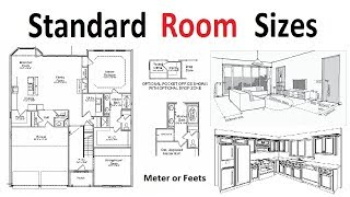 Standard room sizes for Plan development