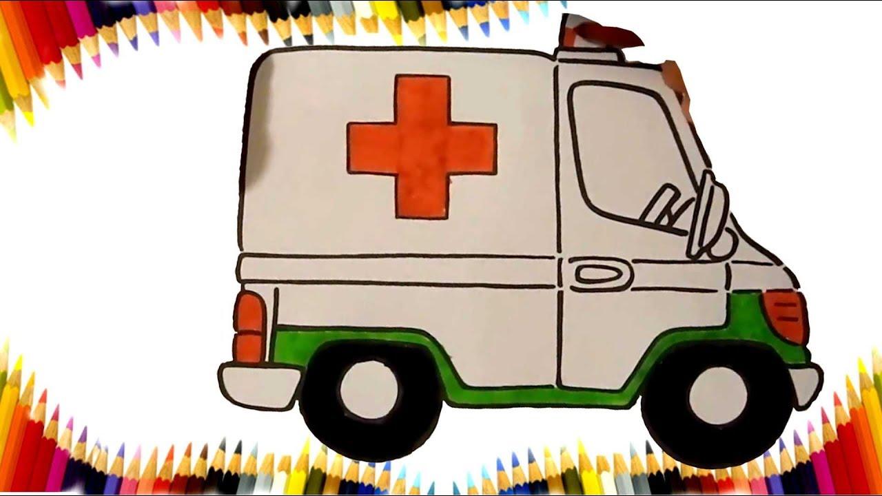 Ambulans Boyama Sayfasi Ambulans Boyama Kinder Welt Ds Boyama