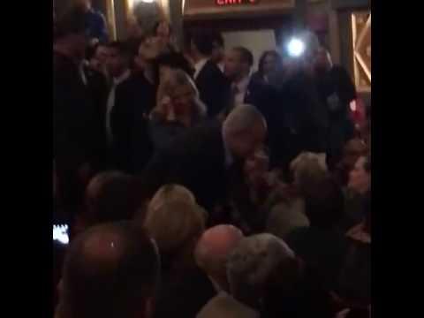 PM Netanyahu Applauded At Richard Rodgers Theatre For 'Hamilton'