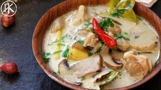 Keto Thai Chicken Soup (Tom Kha Gai)   ต้มข่าไก่   Keto Recipes   Headbanger's Kitchen
