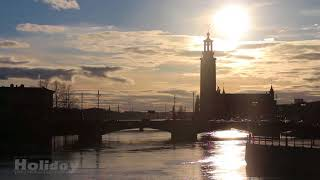Sunset in Stockholm / for Holiday Video Production